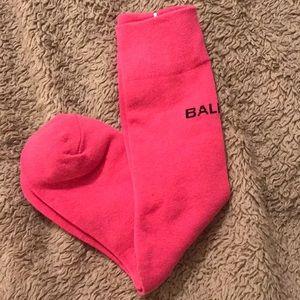 Bright pink Balenciaga socks